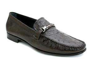 Mezlan Mens KINDLE Brown Ostrich & Deerskin Lthr Shoes