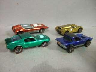 Lot of 4 Redline Hot Wheel Cars 1967 68 Mustang Python Ford J Car