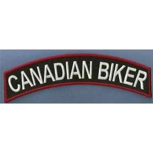 BIKER TOP ROCKER BACK CANADA BIKER VEST PATCH!: Everything Else