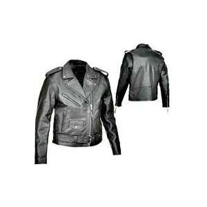 River Road Ladies Basic Leather Jacket Large Automotive