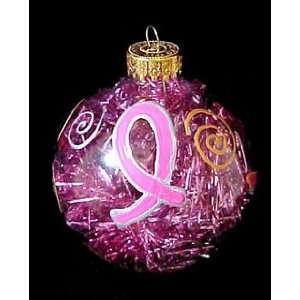 Pretty in Pink Design   Hand Painted   Glass Ornament   2