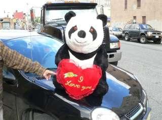 GIANT 32 FAT PANDA w I LOVE YOU HEART VALENTINE PLUSH