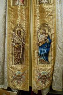 Fine older Spanish Trinity Cope w/ Stole + vestment