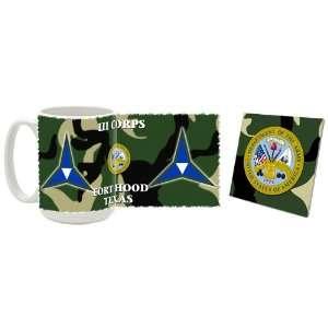 US Army Fort Hood TX III Corps Coffee Mug/Coaster  Kitchen