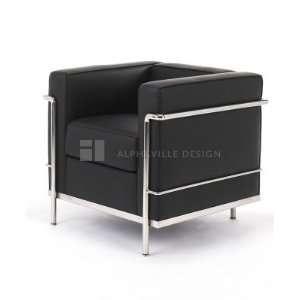 Alphaville Bauhaus Black Leather Chair Alphaville Seating Living