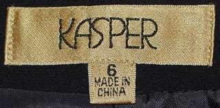 KASPER LADIES BLACK EVENING 3 PC SUIT W/ BEADS SZ 6 NWT