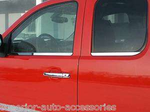 CHEVY SILVERADO EXT CAB 08 09 10 4PC WINDOW SILL TRIM