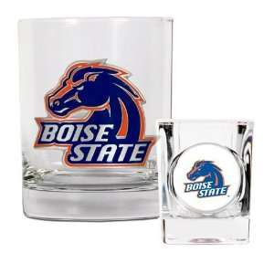Boise State Broncos Rocks Glass & Shot Glass Set Sports