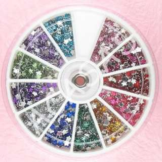 1200 Flower 3mm Nail Art Rhinestones Mixed Wheel 12wFL