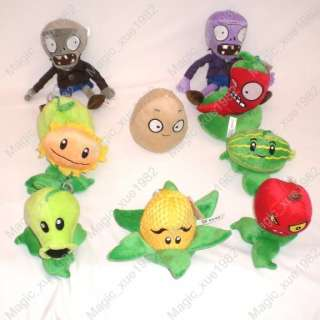 Brand new 10 figures of Plants Vs Zombies soft toy