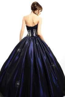 Elegant Shirred Embroidery Quinceanera/Prom/Wedding dresses Ball Gowns