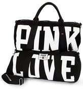 NWT Victorias Secret LOVE PINK Large Black DUFFLE Bag SUITCASE Carry