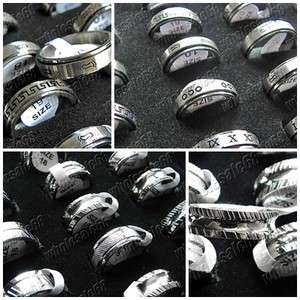 lots bulk 30pcs stainless steel mood change high quality ring
