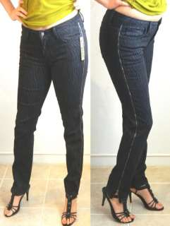 SEXY GOTH ROCKER PUNK STRETCH ZIPPER ZIPPER SKINNY DENIM JEANS 18 20