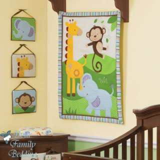 Baby Boy Monkey Jungle Crib Infant Nursery Bedding Set