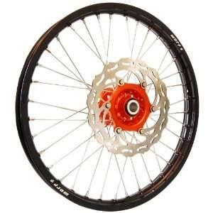 Warp 9 MX Wheels Orange/Black Wheel with Painted Finished