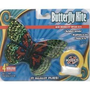 MINI Microlite 4 Kite   Green Butterfly Toys & Games