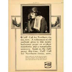1920 Ad Northern Tissue Paper Towels Toilet Green Bay   Original Print