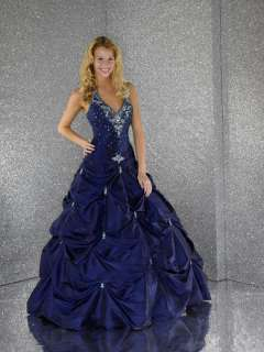 Stock royal blue Bridesmaid Prom Gown Dress Size 6 16