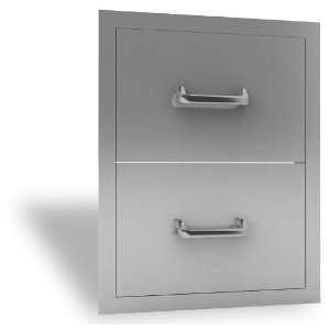 RCS Access Drawer   Stainless Steel Double Drawer: Home & Kitchen