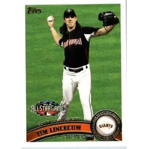 2011 Topps Update #US58 Tim Lincecum   San Francisco Giants (Record