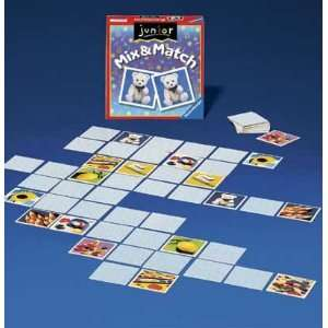 Junior Mix and Match Game Board Game: Toys & Games