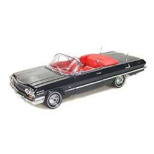 1963 Chevy Impala SS Convertible 1/18 Black Toys & Games
