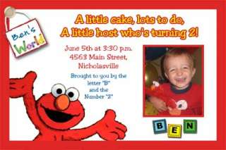 Custom Sesame Street & Elmo Birthday Invitations cards
