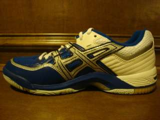 New Womens ASICS GEL DOMAIN Blue/White Volleyball Shoe