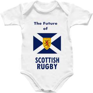 Scotland Rugby Baby Grow Shirt Scottish Babygro Kit Top