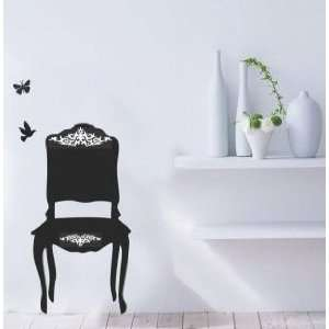 Chair Butterflies and Birds   Loft 520 Home Decor Vinyl Mural Art Wall
