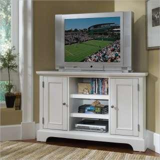 Home Styles Naples Corner White TV Stand 095385796778