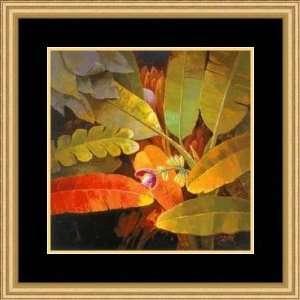 Tropical Leaves II by June An   Framed Artwork