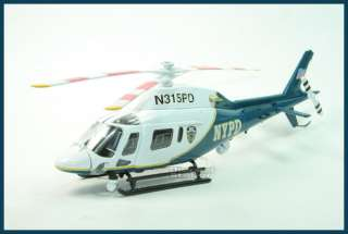 NYPD HELICOPTER AGUSTA A119 KOALA DIE CAST 1/43