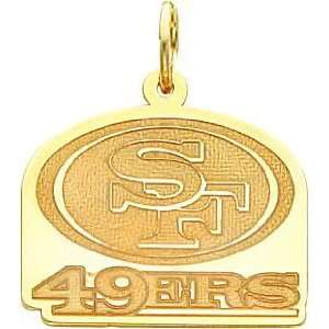 14K Gold NFL San Francisco 49Ers Logo Charm: Sports