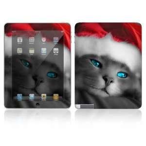 Apple iPad 2 Decal Skin   Christmas Kitty Cat