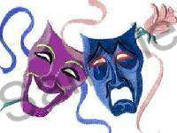COMEDY~TRAGEDY THEATRE MASKS Italian Charm broadway