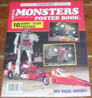 10 Giant Metal Monster Truck Posters NHRA Magazine 1989