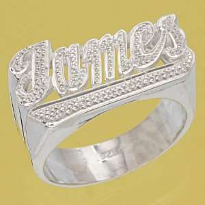 Letter Precious Hand Carving Accent Name Ring (FREE GIFTBOX+SHIP