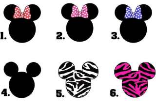 Set of 20   Mickey or Minnie Mouse Ears   You Choose the Design