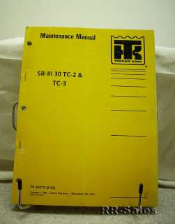 Thermo King SBIII 30 Refrigeration Maintenance Manual