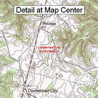 Map   Cumberland City, Kentucky (Folded/Waterproof)
