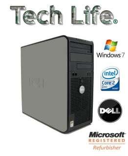 Dell optiplex 755 WINDOWS 7 core 2 duo 2.6GHz 2GB ram 250GB Hard Drive