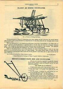 1905 Planet Jr Farm Garden Riding Cultivator Brecks ad