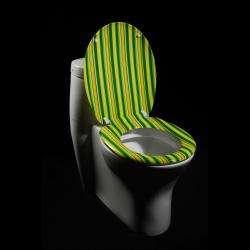 Cabana Stripe Designer Melamine Toilet Seat Cover