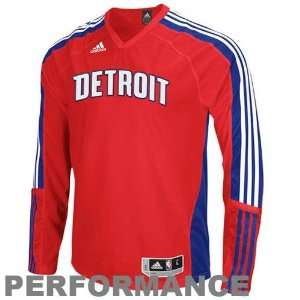 Detroit Pistons On Court Long Sleeve Shooting Shirt
