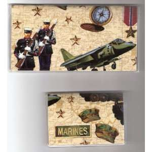 Checkbook Cover Debit Set Made with United States Marines