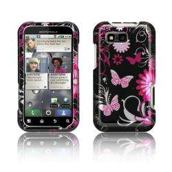 Luxmo Motorola Defy Pink Butterfly Protector Case
