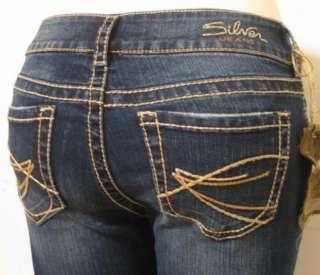 NEW SILVER JEANS Suki Capri Womens Jeans Sz 24 36 L9996SAF334 Z7275