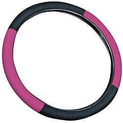 Pink 15 inch Universal Steering Wheel Cover